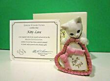 Lenox Kitty Love Valentine Cat sculpture New in Box with Coa February Kitten