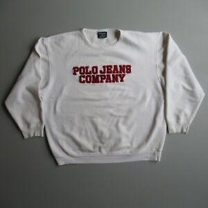 Polo Jeans Ralph Lauren Crewneck Logo Sweatshirt Shirt vintage Canada Distressed