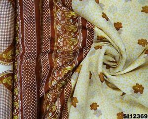 Indisch Frauen Sari Polyester Kunst Kleid Weiß Blumen Wickeln 5 Yd Saree SI12369
