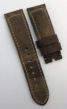 Authentic Officine Panerai 24mm x 22mm Assolutamente Brown Watch Strap Tang OEM