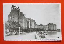 Novo Mundo Rio de Janeiro Postcard, Brasil Avenia Beira Mar 1955