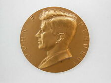 1961 President John F. Kennedy Bronze Medallion Paper Weight by Gilroy Roberts