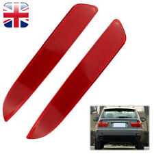 Pair Rear Bumper Reflector Red Lens for BMW E70 X5 2008-2012 Right & Left Side