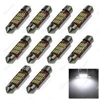 10X White 36MM 6413 12 SMD 4014 LED Festoon Dome Light Bulbs 12-24V Car ZI135