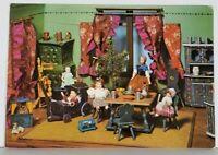 German Puppen, Dolls at LVR Freilichtmuseum Kommen Kitchen Scene Postcard K4