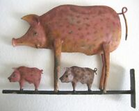 IRON PIG BUTCHER'S TRADE SIGN STORE DISPLAY ADVERTISEMENT SIGN