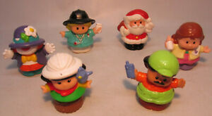 Fisher Price Little People Figures Lot, Santa, Clown, Fireman
