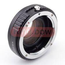 Focal Reductor velocidad Booster adaptador Nikon F G Lente Micro cuatro tercios E-PL6