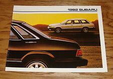 Original 1982 Subaru Full Line Deluxe Sales Brochure 82 Sedan Hardtop Hatchback