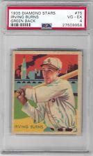 1935 Diamoind Stars Irving Burns #75 VG-EX PSA 4