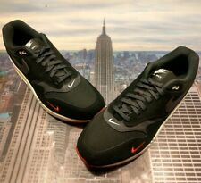Nike Air Max 1 Premium Black/Oil Grey-University Red Size 14 875844 007 New