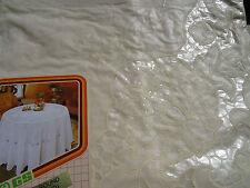 180 cm Ø Redondo Beige Mantel Cubierta Protectora motivo floral cocina