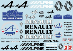 Sticker Decal Sheet for 1/10 renault on clear vinyl 1534