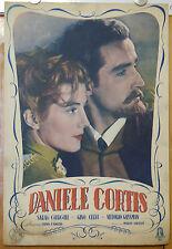 soggettone film DANIELE CORTIS Vittorio Gassman Sarah Churchill M.Soldati 1947
