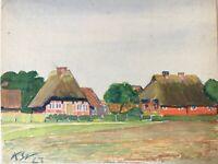 Karl Steffin 1923 Norddeutsche Häuser Sylt Hiddensee Rügen?  23,4 x 29,7 cm