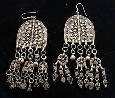 Bedouin Coin Silver Chandelier Pierced Earrings