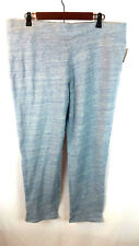 Style&Co. Women's XL Grey/Aqua Marbled Pull-On Active Comfy Pants Size XL NWT