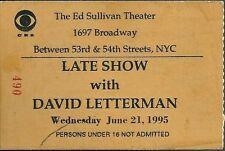 Memorabilia de David Letterman