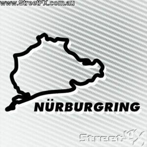 NURBURGRING WHITE Sticker Decal Nürburgring Car Turbo Race Rally Drift JDM Euro