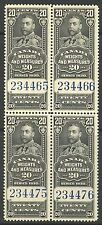 Canada #FWM63, 1930 20c King George V - Weights/Measures Revenue, B4 Unused NH