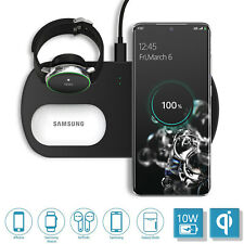 3 In1 Qi 10W Wireless Charger Fast Charging Dock For Airpods&Galaxy Watch&Phone