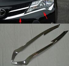 For Toyota RAV4 2013-2015 ABS Chrome HeadLight Eyelid Trim