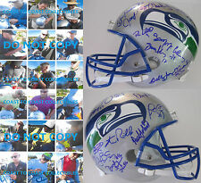 SEATTLE SEAHAWKS,LEGENDS,SIGNED,AUTOGRAPHED,FULL SIZE FOOTBALL HELMET,COA,PROOF