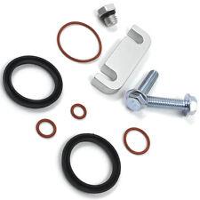 Duramax Fuel Filter Head Housing Spacer Kit+Seal Rebuild Kit+Bleeder Screw 01-10