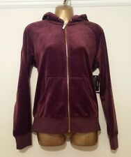 Genuine Juicy Couture Velour Cosmic Pink  Hoodie Relaxed Fit Size S Embellished