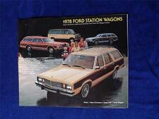 1978 FORD STATION WAGON SALES BROCHURE PINTO LTD CLUB WAGON FAIRMONT