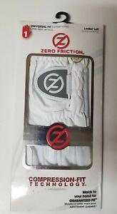 Left Hand Women's Zero Friction, Compression-Fit Techonology Golf Glove White