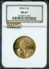 2006-D SACAGAWEA DOLLAR NGC MAC MS67 PQ BUSINESS STRIKE SPOTLESS *