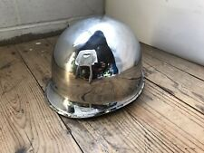 Vintage Military Us Army Chromed Parade Color Guard Battle Helmet Vietnam Era