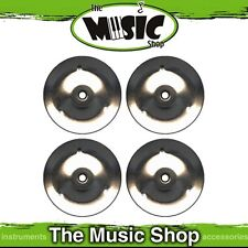 New Pack of 4x Replacement Tambourines Jingles - Chrome Finish - ED335