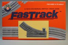 LIONEL FASTRACK 036 SWITCH RIGHT HAND train track turn o gauge out 6-12018 NEW