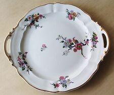 Bernardaud Limoges France Bengali 2 Handle Cake Plate Tray Bird & Flowers