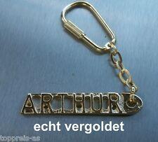 Noble llavero Arthur dorado oro nombre keychain regalo de Navidad