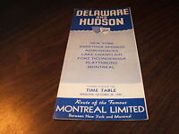 OCTOBER 1959 D&H DELAWARE AND HUDSON PUBLIC TIMETABLE