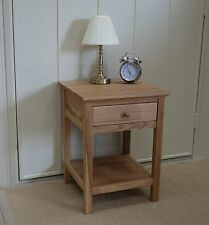 LEWIS ESPRIT SOLID OAK LAMP SIDE TABLE WITH DRAWER AND SHELF RRP £250