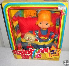 """#8064 Vintage Mattel Rainbow Brite Giftset 9"""" Doll, Twink Sprite & Wall Hanging"""