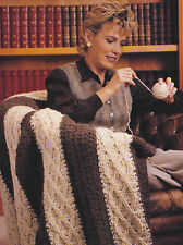 Crochet Pattern ~ Cables And Lace Afghan ~ Instructions