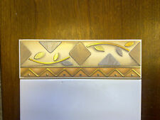 BORDER TILES PACK OF 20 CERAMIC GOLD/FAWN/GREY/MINK