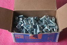 "NEW BOX / 100 HEX CAP SCREWS 3/8-16 X 1""; Steel, Zinc Plated by Metallics BHC45"
