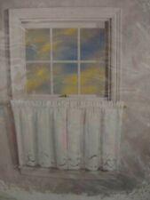 2 pkgs Furio Jasmine Curtain Tiers 60'' x 24'' White Cotton Battenburg Lace Nip