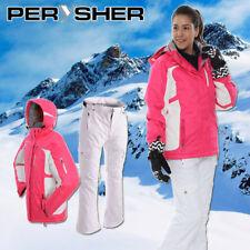 PERYSHER Womens Snowboard / Ski Suit: Racer V2 Jacket & Liberty Pants - Rose Pin