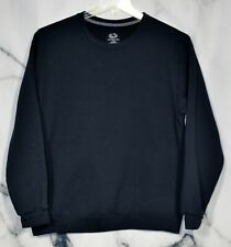 FRUIT OF THE LOOM Mens' Black Sweatshirt Large Long Sleeves Comfortable