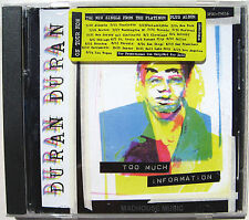 DURAN DURAN CD Too Much Information USA 2 Trk PROMO w/ Artwork+ TOUR Sticker NEW