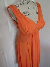 SABA Tangarine Orange Flowing Summer Maxi Dress Size 8 B48