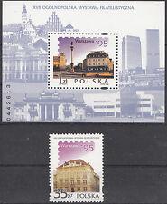 """2) Polen """" Nationale Briefmarken Ausstellung Warschau 95 """" Mi.3555+Bk.127**(0245"""