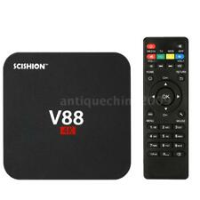 V88 Android 6.0 Smart TV BOX 4K Latest RK3229 Quad Core 8GB HD 1080P WIFI Media